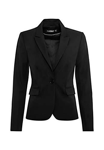 HALLHUBER Business-Blazer mit Klappentaschen leicht tailliert schwarz, 42