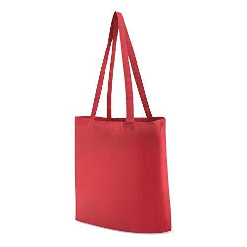 My Custom Style Bolsas de Compras algodón 140gr Rojo 38x42cm Asas 70cm