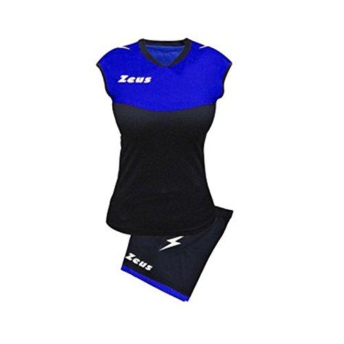 Zeus Sara Volleyball Komplettset Turnier Schule Sport Training Volley Pegashop (BLU-ELECTRIC ROYAL, M)