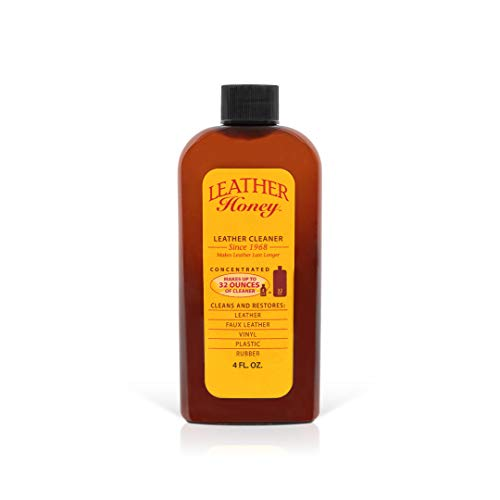 Leather Cleaner by Leather Honey: The Best Leather Cleaner for Vinyl and Leather Apparel, Furniture, Auto Interior, Shoes and Accessories. Concentrated Formula Makes 32 Ounces When Diluted!