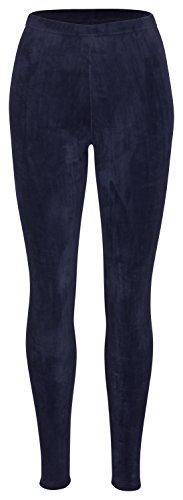 Tobeni Mujer Leggings de Invierno con Forro de Peluche Térmicos extra Acogedor y Cálido Color Azul Marino Tamano S-M
