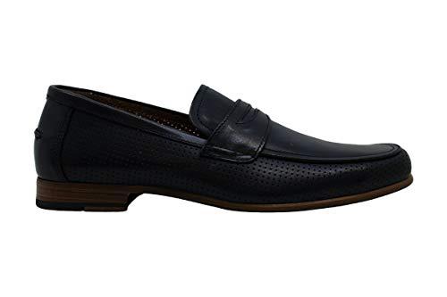 Alfani Mens Blaine Leather Slip On Dress Oxfords Navy