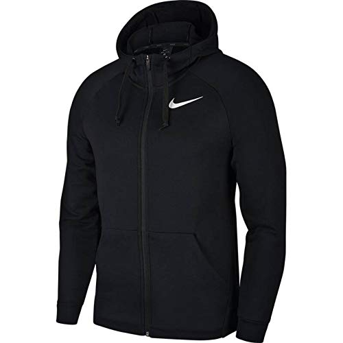 Nike Herren Dry FL HD Full Zip GFX 2 Hoodie, Black/White, L