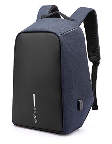 Fur Jaden Anti Theft Water Repellent 15.6 Inch Laptop Backpack Bag with USB Charging Port