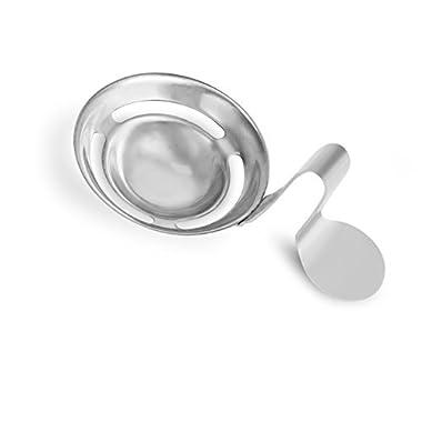 Internet's Best Stainless Steel Egg Separator | Egg White Egg Yolk Separator | Filter Egg Sieve | Breakfast Kitchen Tool Strainer