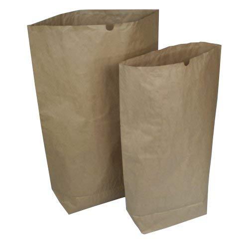 as-kartons 25 STK. Papier Bio-Papiersäcke 120l, 700x950+200mm, 2-lagig - stark, braun (Papier)