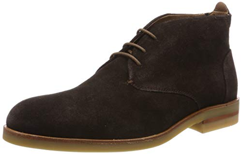 H by Hudson Mens Bedlington Work Formal Office Chukka Cow Suede Boots - Brown - 12
