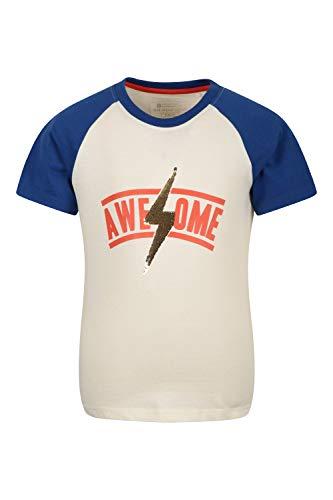 Mountain Warehouse Love The World t-Shirt de algodón orgánico para niños - Camiseta 100% algodón orgánico, Top Ligero, Parte de Arriba Informal - Exterior, excursiones Crema 9-10 Años