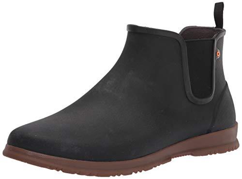 Bogs Women's Sweetpea Ankle Waterproof Rain Boot, Black, 7