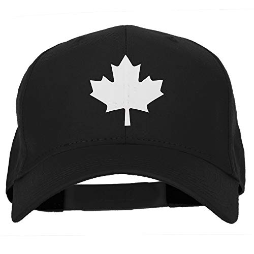 Canada Maple Leaf Symbol Logo Heat Transfer Solid Cotton Pro Style Cap - Black OSFM
