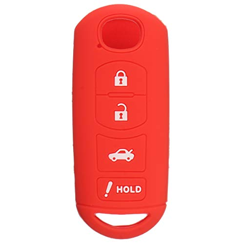 Viviance 4 Bouton À Distance Couvercle Boîtier Coque Easy Installation pour Mazda 3 6 D'Ingestion Cx-5 Cx-7 Cx-9 - Rouge