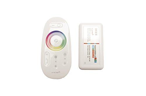 Draadloze afstandsbediening met controller voor RGB ledstrips, 2,4 GHz, 12-24 V, max. 18 A | Gecodeerd