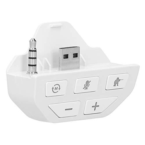 Adaptador de Auriculares Sound Enhancer para Xbox One, Adaptador de Audio de Auriculares estéreo Dongle Gamepad Controller Sound Enhancer convertidor de Auriculares