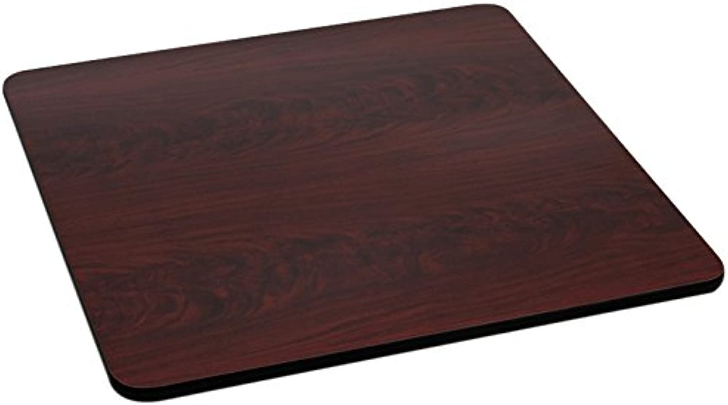 Offex OF-XU-MBT-3030-GG Reversible Square Laminate Table Top, 30-Inch, Black Mahogany