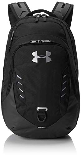 Under Armour Gameday Backpack, Black (001)/Silver, One Size Fits all Fits All