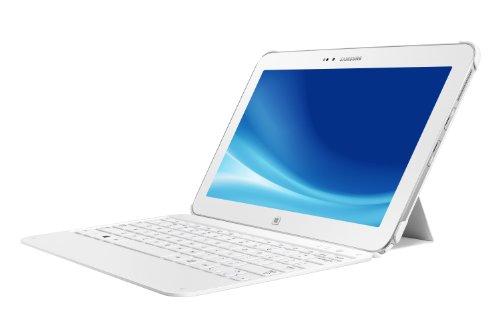 Samsung ATIV Tab 3 XE300TZC-K01 25,7cm (10,1 Zoll) Convertible Tablet-PC (Intel Atom Z2760, 1,8GHz, 2GB RAM, 64GB SSD, Win 8) mit Tastatur weiß