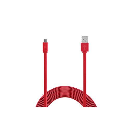 Aiino Samsung Micro USB a USB cavo dati per ricarica e sincronizzazione Flat Tab, Rosso