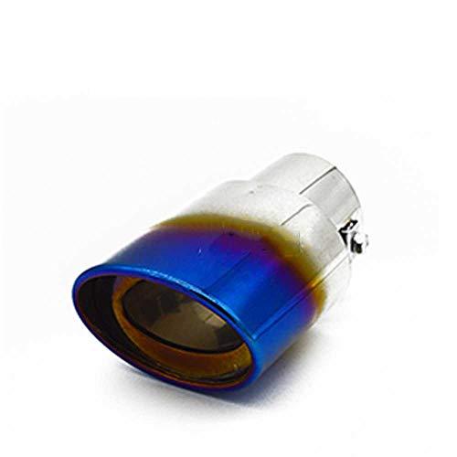 ZIMAwd Ventilación de Escape de Coche, Tubo de Escape de Punta de silenciador de Coche, Garganta de Cola de Coche, Apto para Citroen C2 C4, Apto para Peugeot 207307408