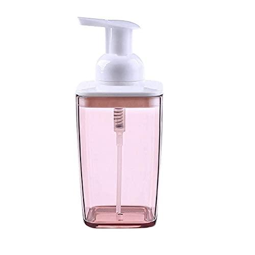 Dispenser di Sapone in Vetro Bottiglia frizzante Bottiglia di emulsione Bottiglia di disinfettante per Le Mani del Bagno dell'hotel, Bottiglia secondaria, distributore di Sapone Rosa Grigio Adatto PE