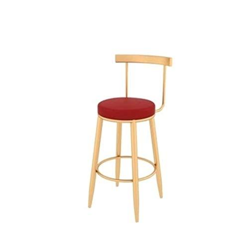 Tuqia Meubel High Doot Hocker Golden Bar Stoel Home Rugleuning Stoel Cafe Bloemenwinkel Hotel Receptie Stoel met pedaal 5 kleuren Woonkamermeubels stoelen