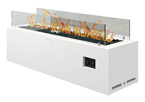 Muenkel Design Spirit [Gashaard buitenshuis]: Gasfles (propaan, butaan) - zonder afstandsbediening - zuiver wit (warm)
