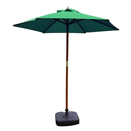 HH- Sombrillas Paraguas de Sombrilla de Jardín de 8.9 Pies / 2.7 M, Sombrilla Impermeable Al Aire Libre para Playa/Piscina/Patio, Protección UV 50+, Portátil Y Plegable (Color : Green)