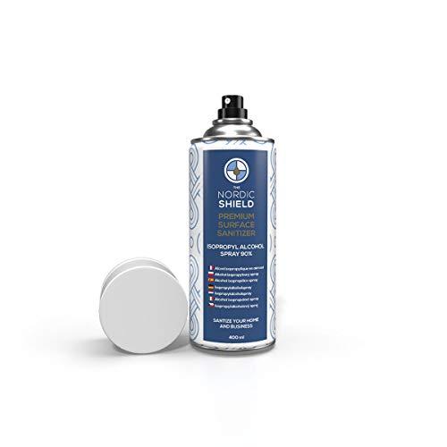 The Nordic Shield | Igienizzante Spray per Superfici | 90% Alcool Isopropilico
