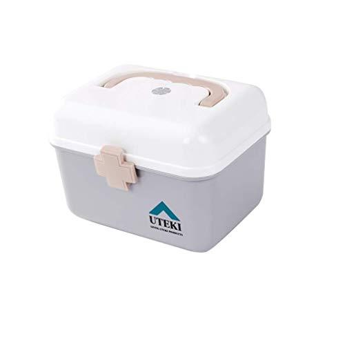 GOXJNG Medizin Box Set Tragbare Medizin-Kasten Haushalt Kinder Mini Medical Behälter-Organisator Perfekt for Büro-Auto-Reise im Freien oder in jedem Notfall (Size : Small)