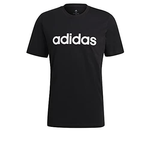 adidas Herren M Lin Sj T Shirt, Schwarz, L EU