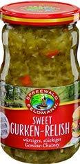 Spreewald Feldmann Sweet Gurken-Relish, würziges, stückiges Gemüse-Chutney 350 g
