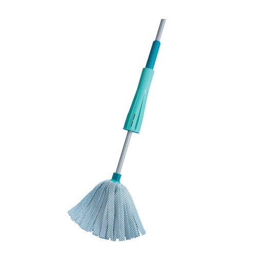 Leifheit Classic Wringmop, Mop mit integrierter Wringglocke zum Bodenwischen ohne Bücken und mit sauberen Händen, besonders saugfähig, waschbar bei 60°, Wischer für große Flächen