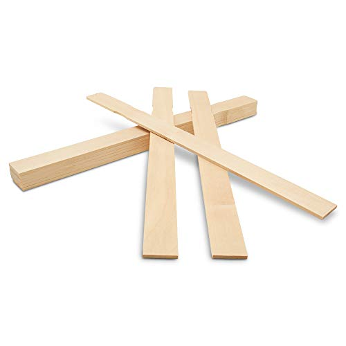 14 Inch Paint Sticks, Box of 25 Hardwood Paint Stirrers, Wood Mixing Paddles for Epoxy or Resin, Garden or Library Markers by Woodpeckers