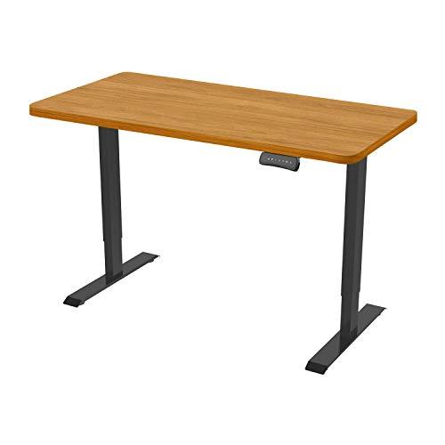 Flexispot ED2 Elektrisch Höhenverstellbarer Schreibtisch .Mit Memory-Steuerung und Softstart/-Stop. (Schwarz+Ahorn)