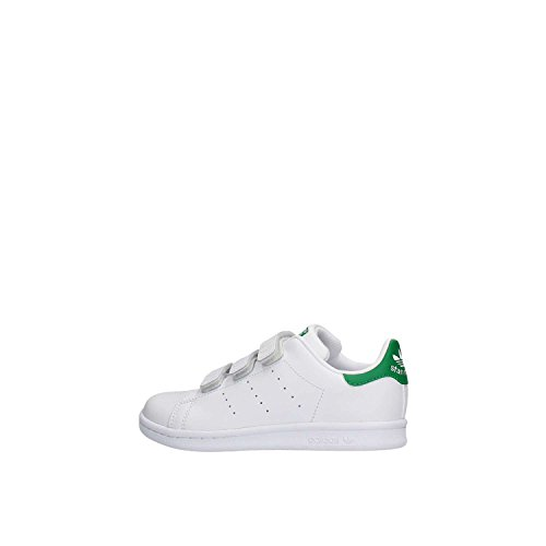 adidas Originals Stan Smith CF, Unisex-Kinder Sneakers, Weiß (Ftwr White/Ftwr White/Green), 34 EU (2 Kinder UK)