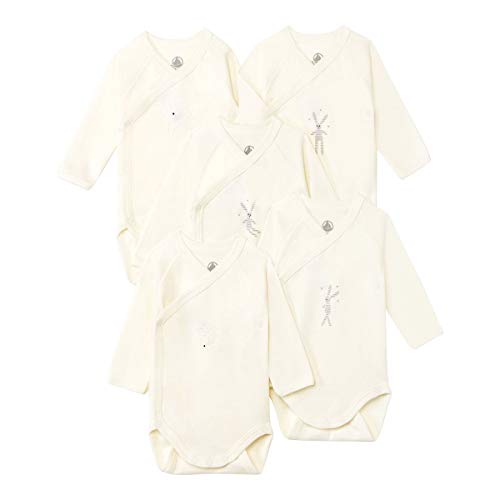 Petit Bateau 5425500 and Toddler Underwear Set, Blanc/Didou1 + Blanc/Didou2 + Blanc/Didou3 + Blanc/Filantine + Blanc/Filantane, 12 Mois Unisex-Baby
