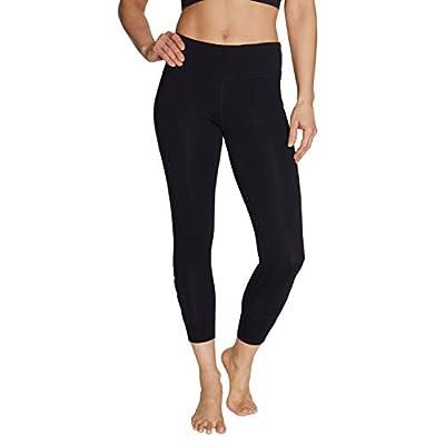 Betsey Johnson Women's Medium Rise 7/8 Legging, Black, Large