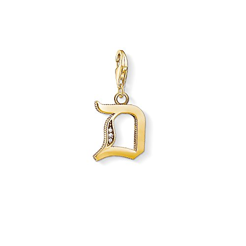 Thomas Sabo Damen-Charm-Anhänger D Buchstabe Gold Charm Club 925 Sterling Silber 1610-414-39