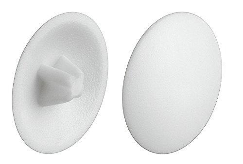 Gedotec afsluitdoppen wit RAL 9010 schroefafdekkingen rond kunststof | H1122 | Ø 12 mm | kruiskop PZ 2 | Meubelafdekkappen voor verzonken kop met aandrijving | 100 stuks
