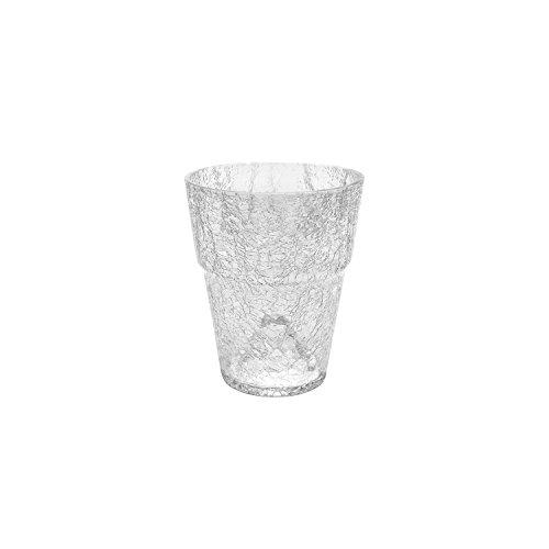 Blumentopf Orchideentopf Orchidee H 165 mm D 130 mm Glas Übertopf Kristall Glasscherben transparent