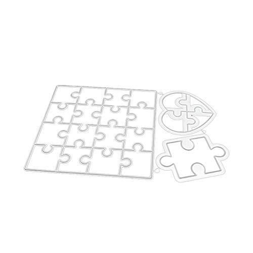 PINH-lang Stanzmaschine Stanzschablone, Liebesrätsel Metall Stanzformen Schablone DIY Scrapbooking Album Stempel Papier Karte Präge Crafts Decor