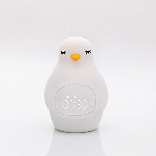 Wekker met Pat Pinguïn van siliconen, multifunctioneel, met de Student, wekker Snooze