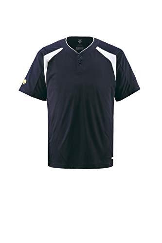 DESCENTE(デサント) ベースボールシャツ(2ボタン) DB205 Dネイビー(DNVY) L