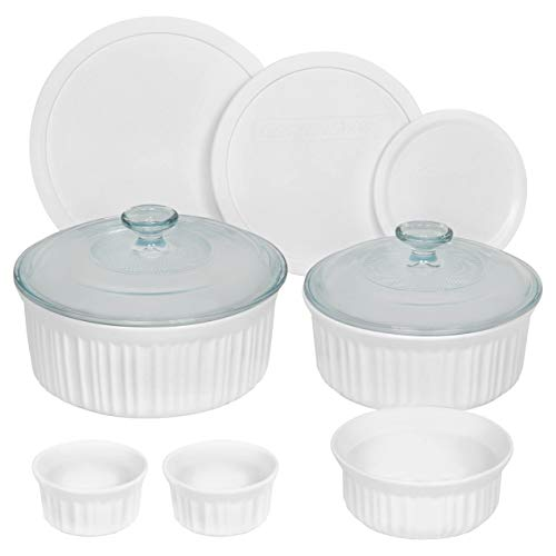 CorningWare French White Ceramic Bakeware, 10-Piece