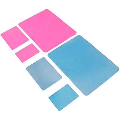 Fabrication de bijoux 6pcs tapis de silicone durable bricolage accessoires faits à la main tapis de table tapis de bureau utiles (style mixte)