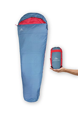 NORDKAMM - Schlafsack Ultraleicht, rechts, dünn, leicht, für Erwachsene, für Camping, Outdoor, Trekking, Reise, Sommer, Indoor. Zum Verbinden für 2 Personen