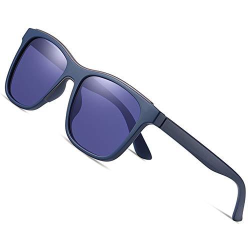 AEF Gafas Sol Polarizadas Hombre Mujere Retro/Aire Libre Deportes Golf Ciclismo Pesca Senderismo 100% Protección UVA Gafas Unisex Golf Conducción Gafas Gafas Sol,Azul