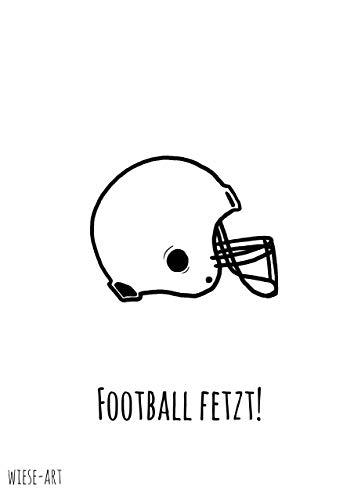 wiese-art Postkarte football fetzt, nfl, afc, nfc, amerikan