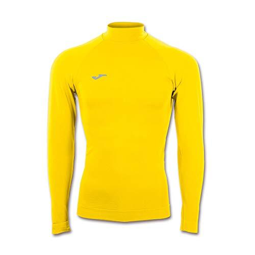 Joma Brama Classic Camiseta Termica, Hombre, Amarillo, S-M