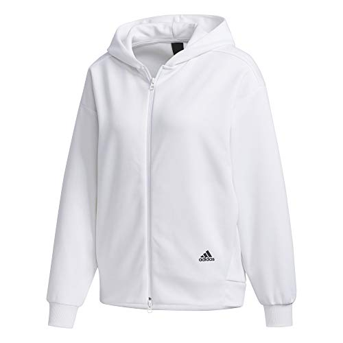 adidas Damen Sweatjacke weiß L