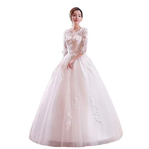 Bruidsjurk voor Vrouwen Kant Applique met Mouw Avondjurk Bruid Bal Gowns